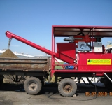 Передвижной сепаратор для разделения навоза и помета